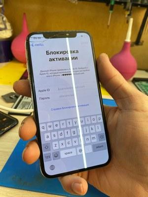 Зеленая полоса на экране Ремонт iPhone (айфон) X (десять/икс)