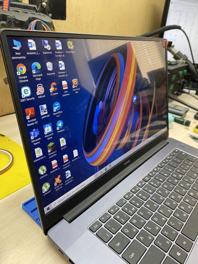 Ноутбук включается но картинку нет