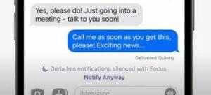 Режим не беспокоить в сообщениях на айфон