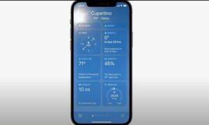 Все возможности приложения погоды в ios 15 iphone